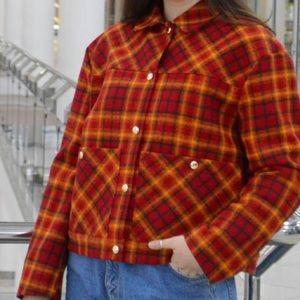 Handmade plaid checkered Mod 60s/50s jacket medium